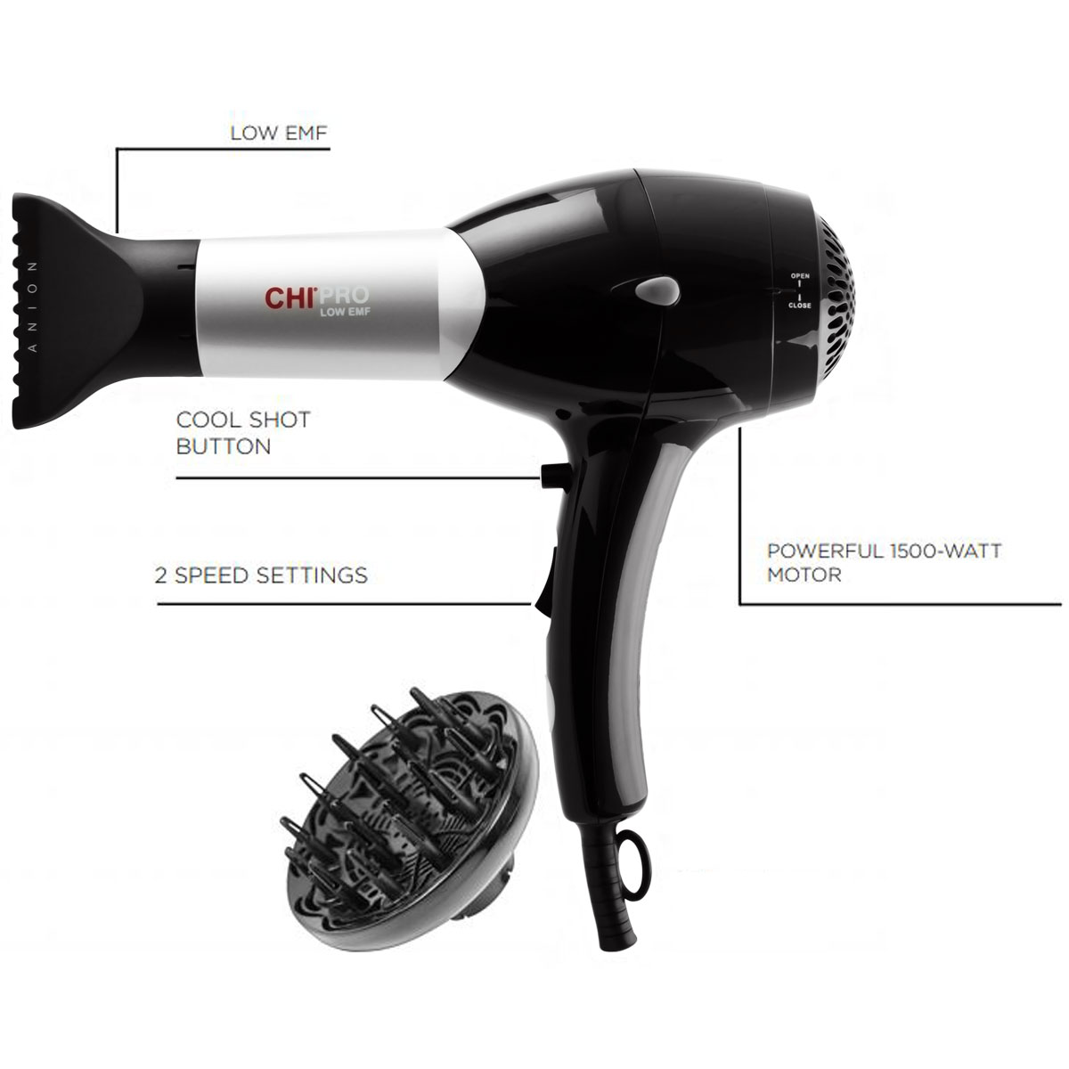 8b6ecb633bad02 CHI Pro Hair Dryer - CHI Hair Care / Professional Blow Dryer