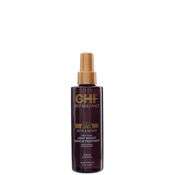 CHI Deep Brilliance Shine Serum Lightweight Leave-In Treatment CHI Deep Brilliance & Tools
