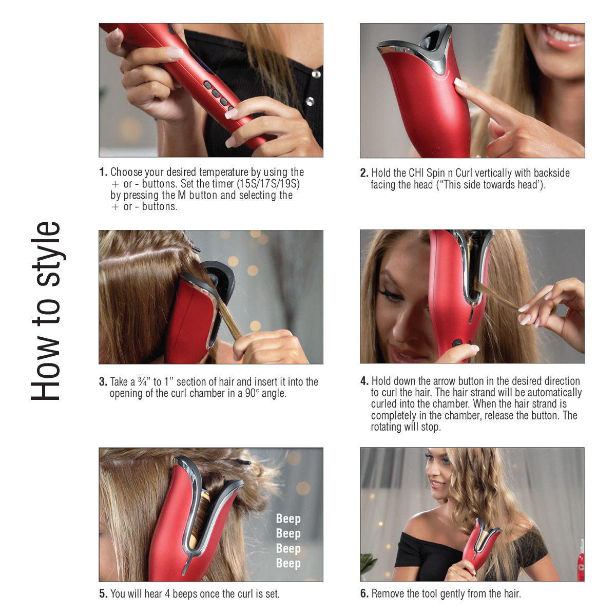 CHI Spin N Curl Ruby Red - How To Style Guide