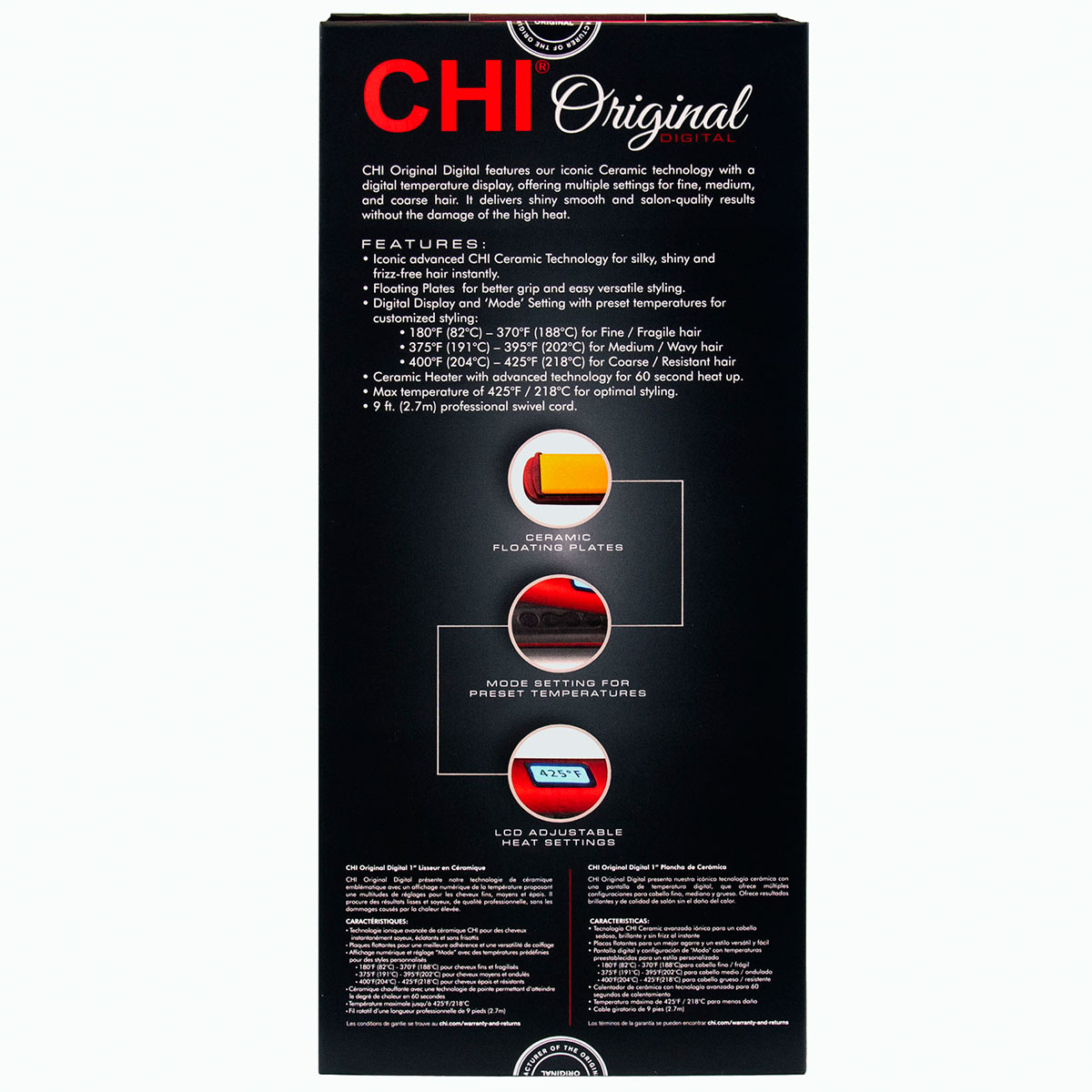 CHI Original Digital 1″ Ceramic Hairstyling Iron – Ruby Red CHI Original Digital